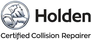 Holden Certified Collision Repairer.