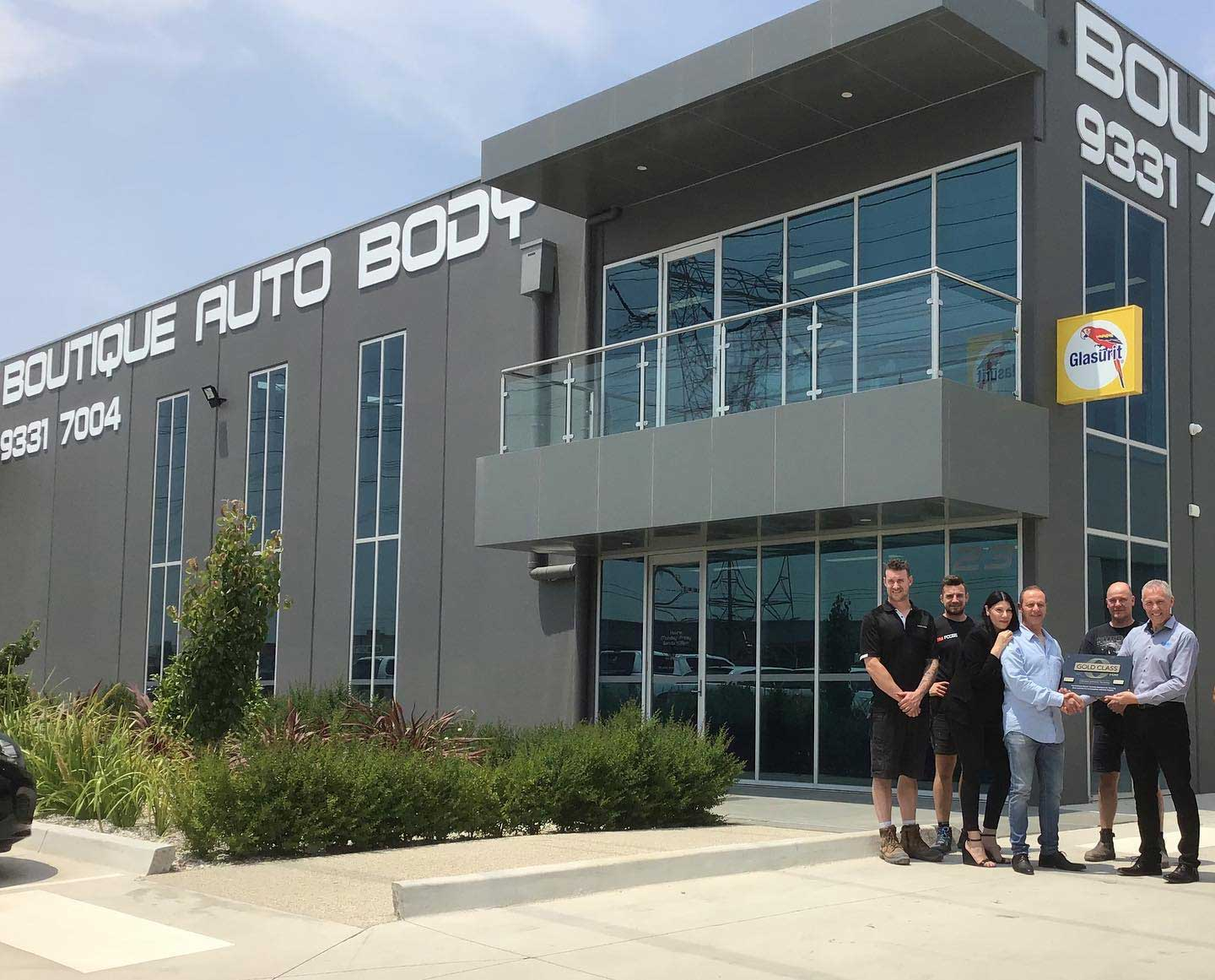 Boutique Auto Body Receiving Their I-Car Gold Class Certification