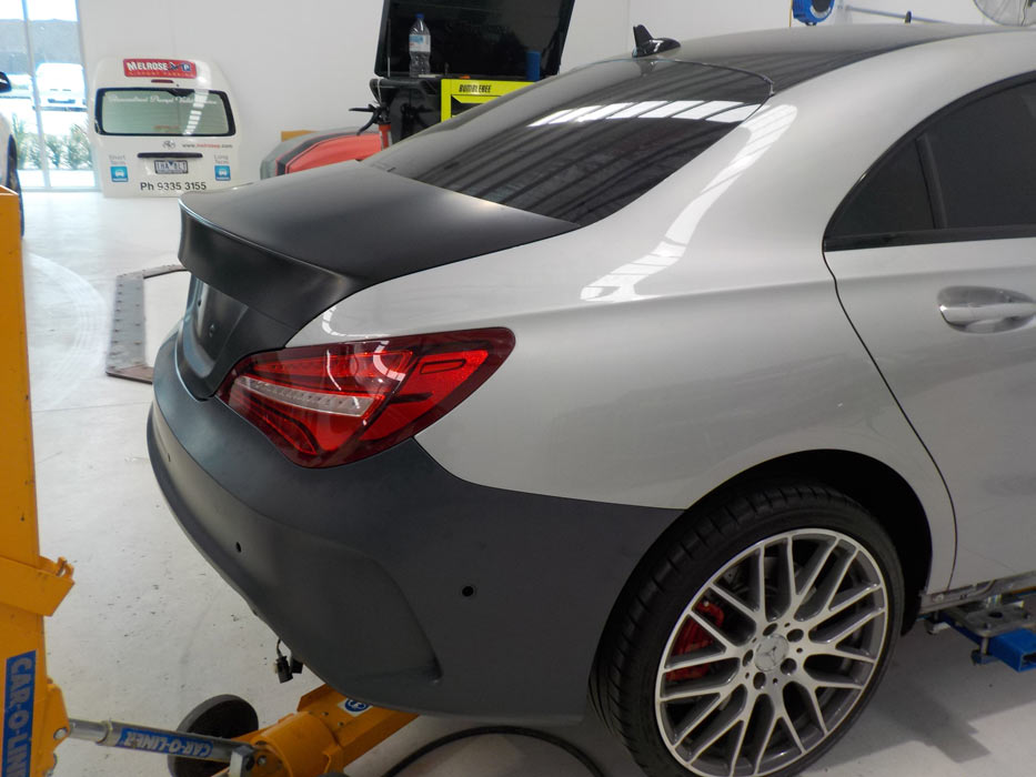 Mercedes being repaired with genuine parts by our expert panel technicians